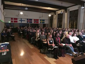 Henrik Williams' lecture in Seattle drew a huge crowd.